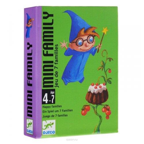 Настольная игра DJECO Карточная игра Мини-семья настольная игра djeco сачки и лестницы