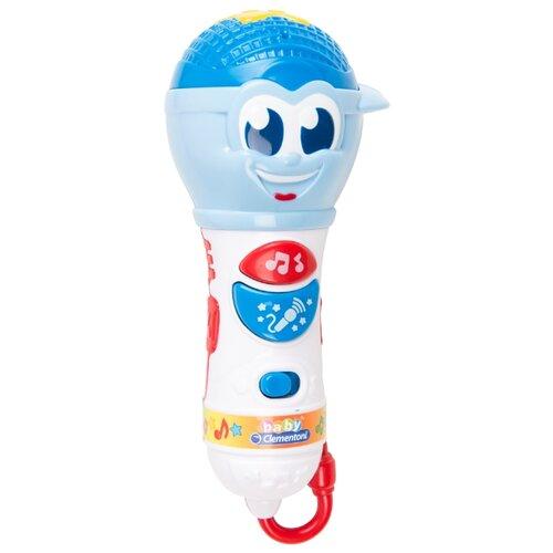Купить Clementoni микрофон 17181 синий/голубой/белый, Детские музыкальные инструменты