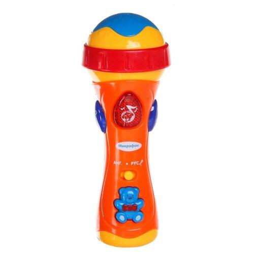 Купить Play Smart микрофон 0933 оранжевый/желтый/красный, Детские музыкальные инструменты