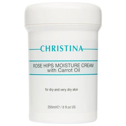 Купить Christina Rose Hips Moisture Cream With Carrot Oil For Dry And Very Dry Skin Увлажняющий крем с маслом моркови для сухой и очень сухой кожи Шиповник для лица, 250 мл