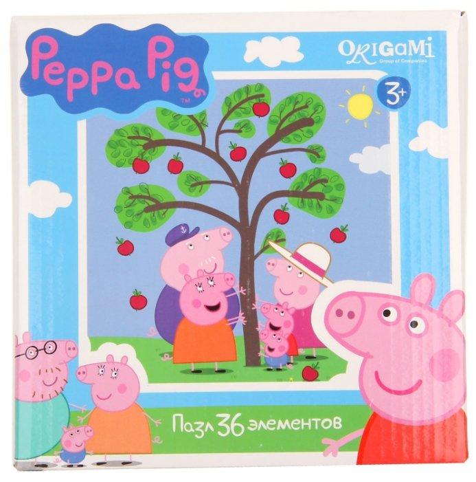 Пазл Origami Peppa Pig Яблоня (01550), 36 дет.
