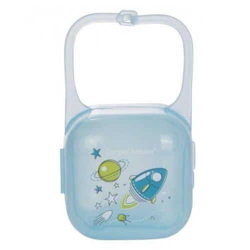 аксессуары для пустышек lubby футляр для пустышек Футляр для пустышек Canpol Babies Machines 0 м (1 шт.) бирюзовый