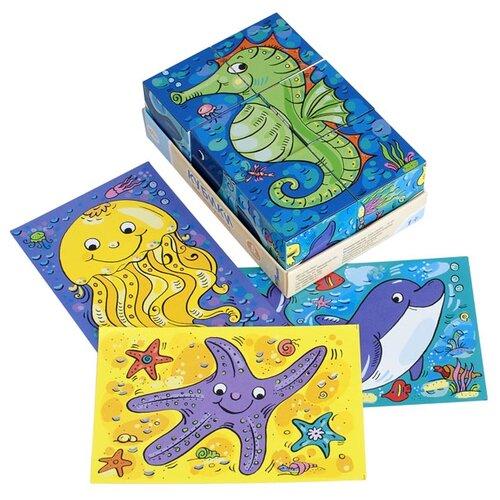 Купить Кубики-пазлы Step puzzle Baby step Морские жители 87333, Детские кубики
