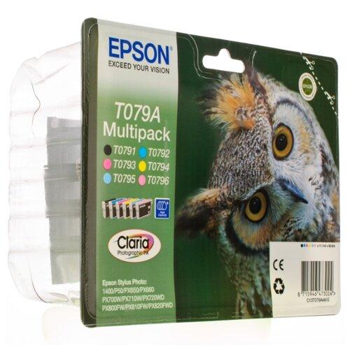 Фото - Набор картриджей Epson C13T079A4A10 набор фотобутафории с днем рождения 14 предметов