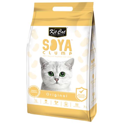 Комкующийся наполнитель Kit Cat Soya Clump Original 7 л- преимущества, отзывы, как заказать товар за 892 руб. Бренд Kit Cat