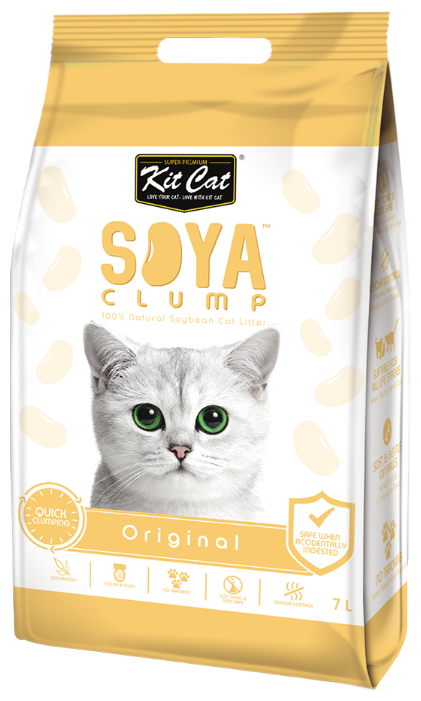 Наполнитель Kit Cat Soya Clump Original (7 л)