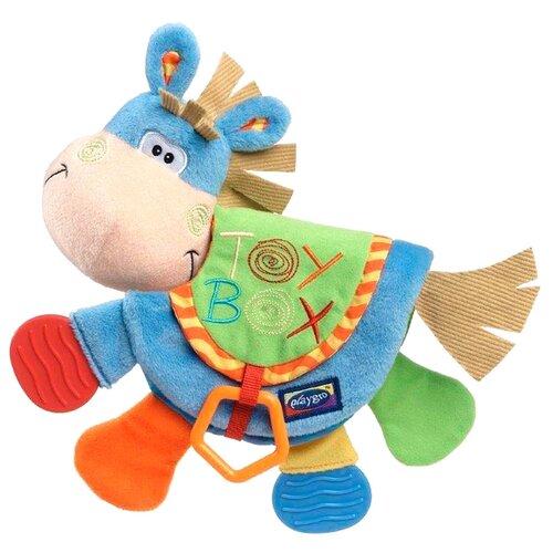 Купить Прорезыватель-погремушка Playgro Clip Clop Teether Book голубой/оранжевый, Погремушки и прорезыватели