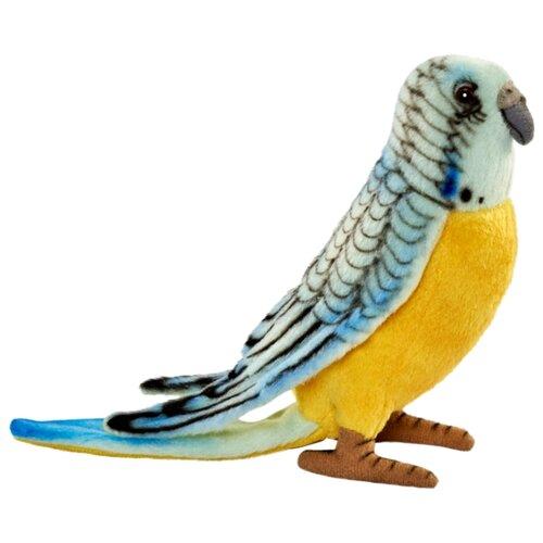 Мягкая игрушка Hansa Волнистый попугайчик голубой 15 см мягкая игрушка hansa детёныш леопарда 18 см