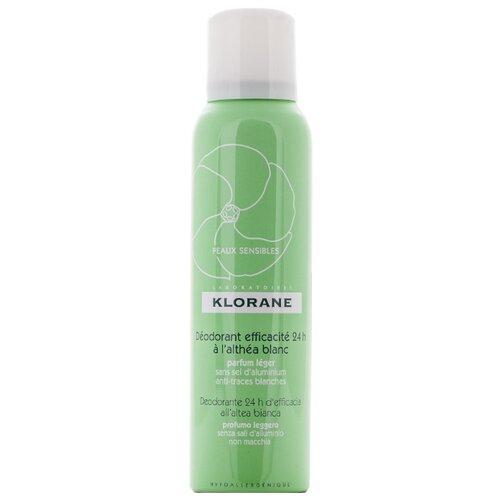 Дезодорант спрей Klorane с белым алтеем 24 ч эффективности, 125 мл