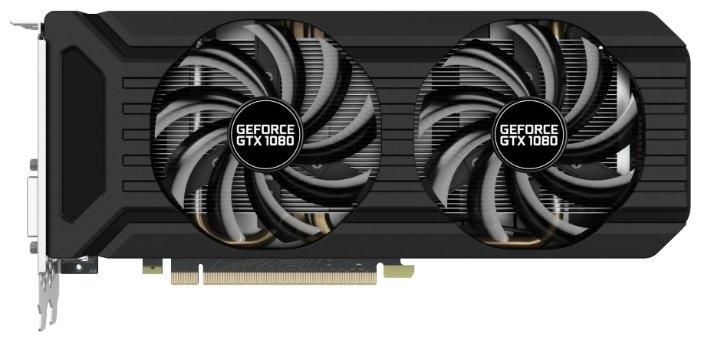 Palit GeForce GTX 1080 1620Mhz PCI-E 3.0 8192Mb 10000Mhz 256 bit DVI HDMI HDCP Dual OC