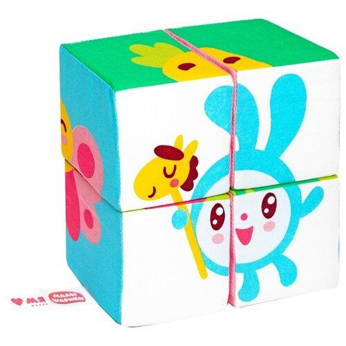 Купить Кубики-пазлы Мякиши Собери Малышарика, Детские кубики