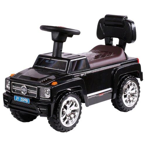 Купить Каталка-толокар RiverToys Mercedes JY-Z09B со звуковыми эффектами черный, Каталки и качалки