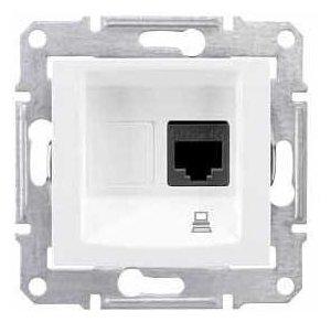 Розетка для интернета / телефона Schneider Electric SEDNA SDN4300121 , белый