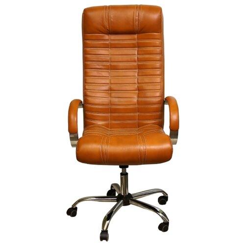Компьютерное кресло Креслов Атлант КВ-02-131112, обивка: искусственная кожа, цвет: оранжевый кресло компьютерное креслов орман кв 08 130112 0453