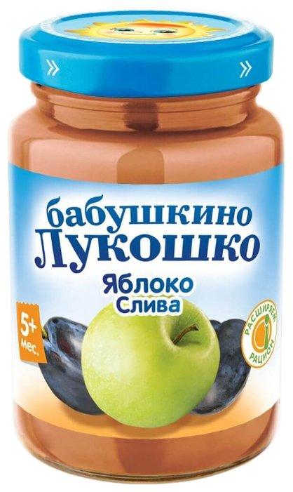 Пюре Бабушкино Лукошко яблоко-слива (с 5 месяцев) 200 г, 1 шт.