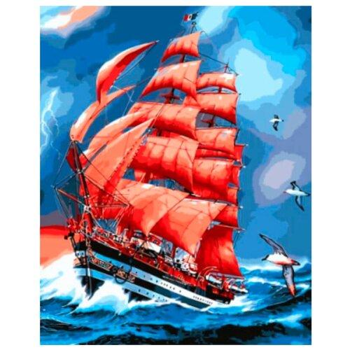Цветной Картина по номерам Парусник Америго Веспуччи 40х50 см (GX8794)Картины по номерам и контурам<br>
