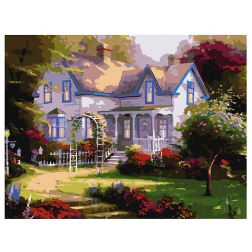 Рыжий кот Картина по номерам Домик с садом 30х40 см (AWD3022) рыжий кот картина по номерам маленький ангелочек 30х40 см x 6161