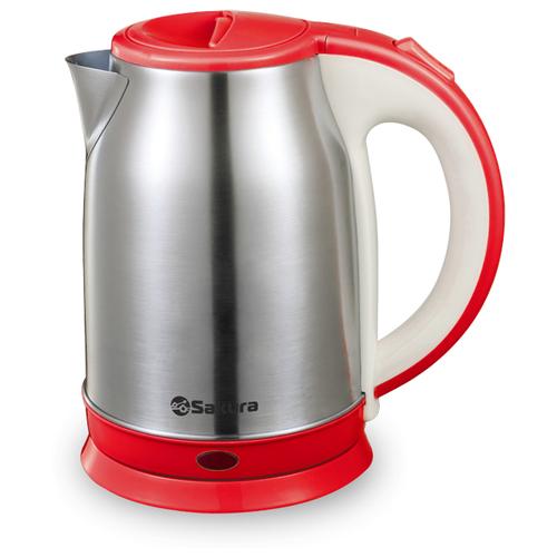 Чайник Sakura SA-2147, серебристый/красный
