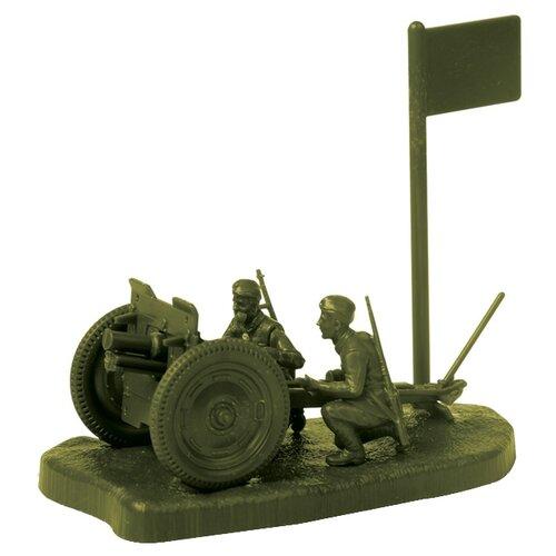Фото - Сборная модель ZVEZDA Советская 76-мм полковая пушка с расчетом (6145) 1:72 сборная модель zvezda немецкий 81 мм миномет с расчетом 1939 1942 6111 1 72