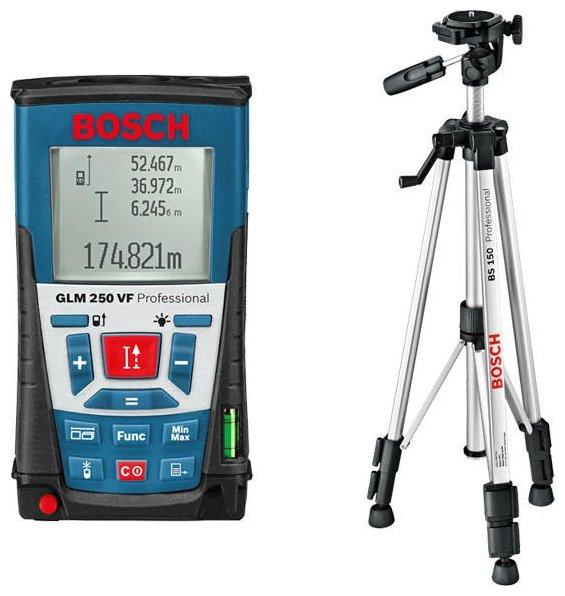 Лазерный дальномер BOSCH GLM 250 VF + BS 150 Professional