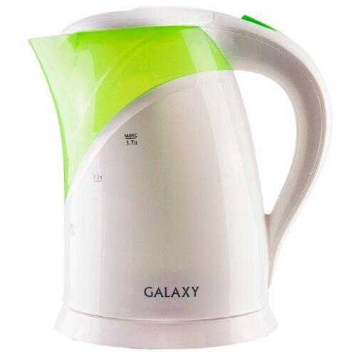 Чайник Galaxy GL0208, белый/зеленый чайник galaxy gl0301 белый