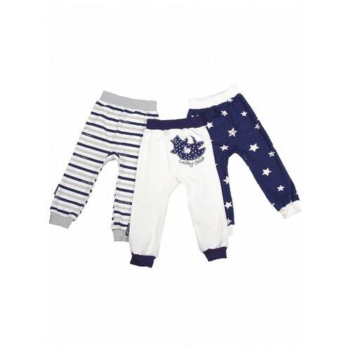Купить Брюки lucky child размер 20 (62-68), синий, Брюки и шорты