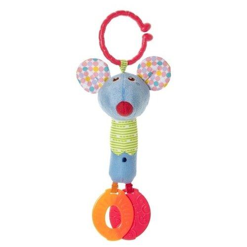 Купить Подвесная игрушка Chicco Мышонок Джино (7654) голубой, Подвески