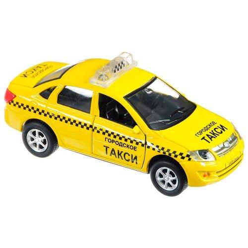 цена Легковой автомобиль ТЕХНОПАРК Lada Granta Такси (SB-13-15-6) 1:43 желтый онлайн в 2017 году