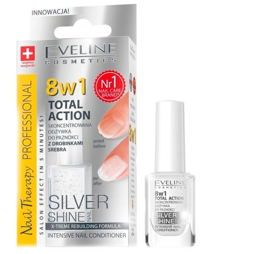 Средство для ухода Eveline Cosmetics 8 в 1 Total Action Silver Shine, 12 мл