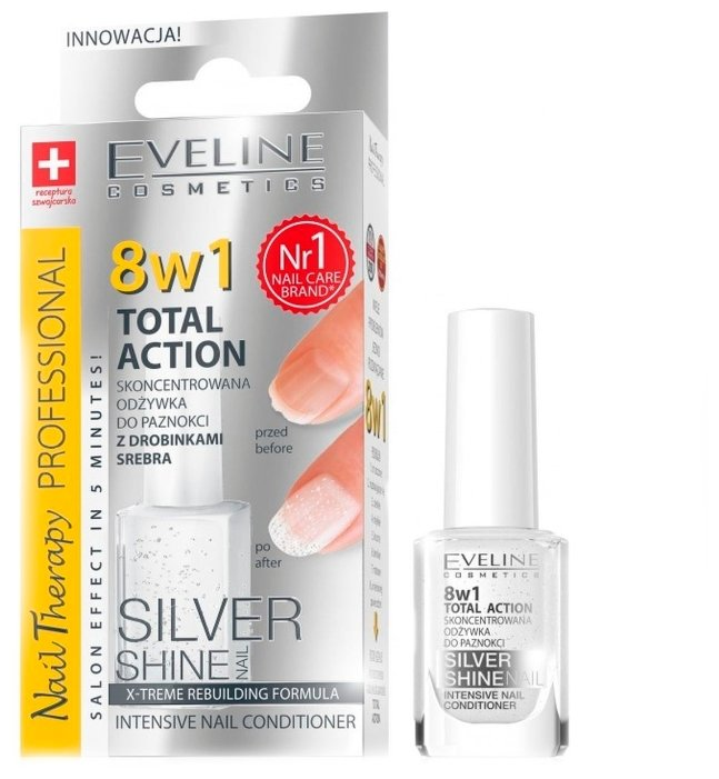 Средство для ухода Eveline Cosmetics 8 в 1 Total Action Silver Shine