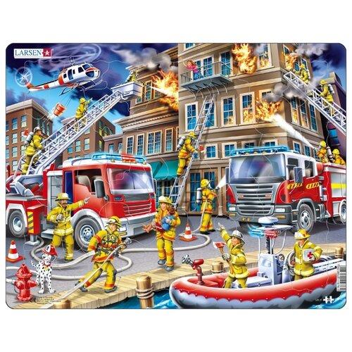 Купить Рамка-вкладыш Larsen Пожарные (US21), 45 дет., Пазлы