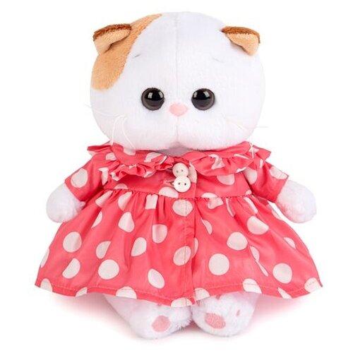Купить Мягкая игрушка Basik&Co Кошка Ли-Ли baby в плащике в горох 20 см, Мягкие игрушки
