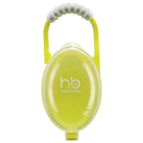Купить Футляр для пустышек Happy Baby 11005 0 м (1 шт.) лайм, Пустышки и аксессуары