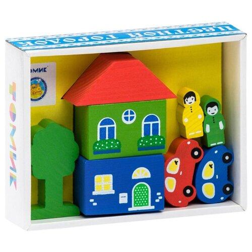 Кубики Томик Цветной городок желтый 8688-1 томик конструктор веселый городок 56 деталей томик