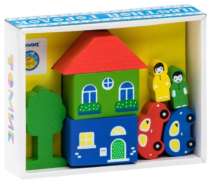 Кубики Томик Цветной городок желтый 8688-1