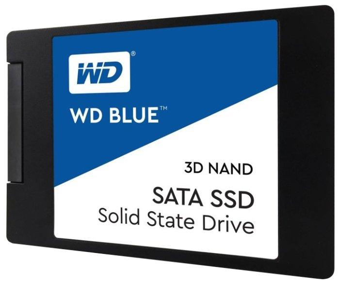 Твердотельный накопитель Western Digital WD BLUE 3D NAND SATA SSD 1 TB (WDS100T2B0A)