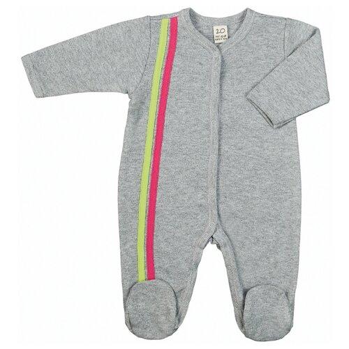 Купить Комбинезон lucky child размер 18 (50-56), серый/розовый, Комбинезоны