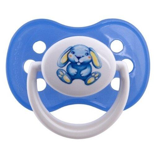 Купить Пустышка силиконовая анатомическая Canpol Babies Milky 0-6 м (1 шт) синий, Пустышки и аксессуары