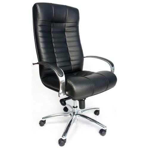 Компьютерное кресло Everprof Atlant AL M для руководителя, обивка: искусственная кожа, цвет: черный