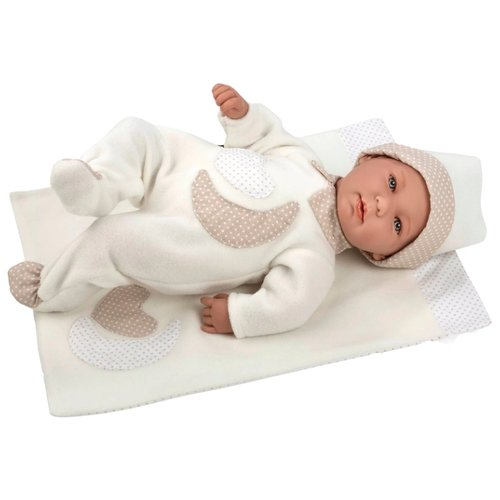Интерактивный пупс Arias Elegance с белым одеялом, 45 см, Т11114 интерактивный пупс arias elegance в голубой одежде 45 см т11134