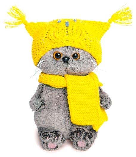 Budi Basa Мягкая игрушка Кот Басик Baby в шапке-сова и шарфе 20 см BB-030