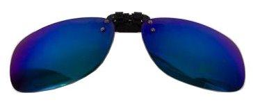 Водительские клипоны на очки, прямоугольные серые