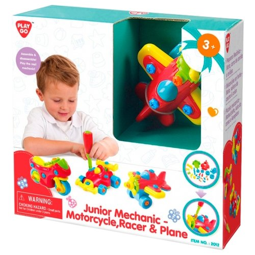 Винтовой конструктор PlayGo Junior Mechanic 2012 Транспорт игровой набор playgo хозяюшка