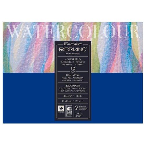 Купить Альбом для акварели Fabriano Watercolour 36 х 26 см, 300 г/м², 12 л., Альбомы для рисования