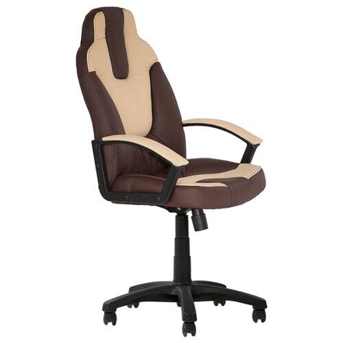 Компьютерное кресло TetChair Нео 2, обивка: искусственная кожа, цвет: коричневый/бежевый компьютерное кресло tetchair jazz офисное обивка искусственная кожа цвет бежевый коричневый 4230