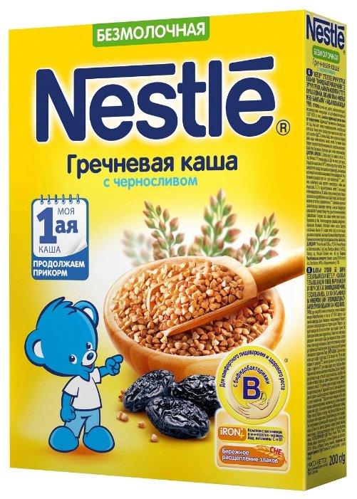 Каша Nestle безмолочная гречневая с черносливом (с 4 месяцев) 200 г