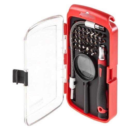 Набор инструментов для точных работ Hammerflex (36 предм.) 601-033 черный/красный набор инструментов sata 53пр для электротехнических работ 09535