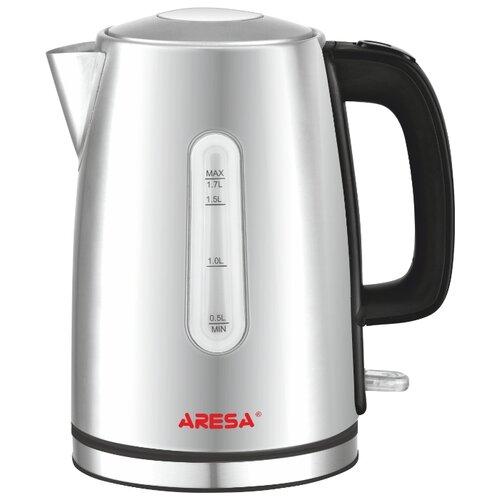 Чайник ARESA AR-3437, черный/серебристый