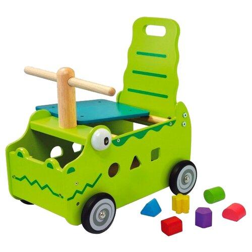 Каталка-толокар I'm Toy Крокодил (87630) зеленый каталка толокар orion toys мотоцикл 2 х колесный 501 зеленый
