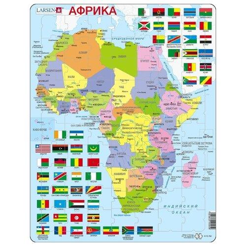 Купить Рамка-вкладыш Larsen Африка (К13), 70 дет., Пазлы